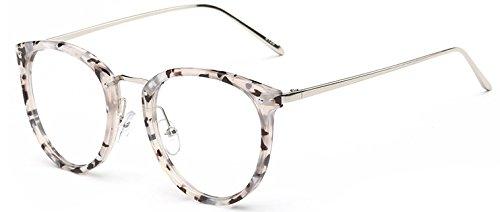 499b412019 GigaMax TM Round Eyewear With Clear Lens Unisex Glasses Frame Retro Vintage  Metal Eyeglasses Frame For Women Men s Goggles oculos de grau  White Flower