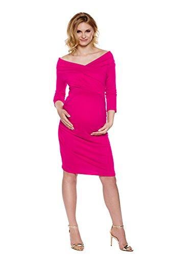 Rosa Schulterfrei Stillkleid My Fuchsie Kleid Tummy Reese Mutterschafts pwgY0