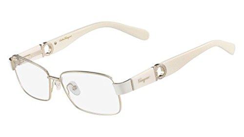 (Eyeglasses FERRAGAMO SF2151R 746 SHINY GOLD/CREAM)