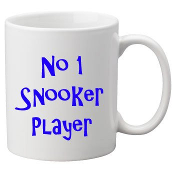 No.1 Snooker Player, 11oz Ceramic Mug.Perfect Birthday or Christmas Gift. Great Novelty 11oz Mug. Glam-Mugs - No.1 Sports Range