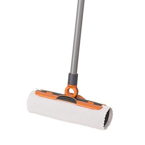 Casabella Flex-O Sweeper with 3 Cloths, Graphite and Orange