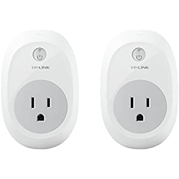TP-Link HS100 Smart Plug (2-Pack), No Hub Required, Wi-Fi, Works with Alexa and Google Assistant, Control Your Devices from anywhere (HS100 KIT)