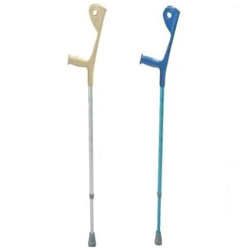 10410 - Euro Style Light Weight Forearm Walking Crutch, Silver, 1 Pair by Drive Medical (Image #1)