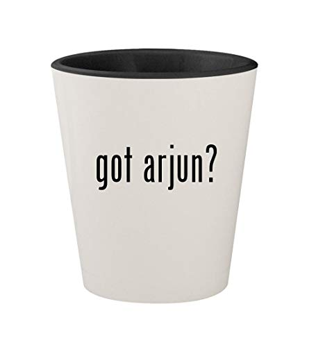 got arjun? - Ceramic White Outer & Black Inner 1.5oz Shot Glass