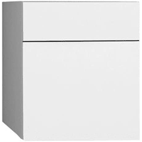 12 Wall Mount Drawer Bridge With Glass Front In Glossy White