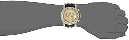 Invicta Men's 0828 Bolt Zeus Reserve Chronograph Mother-Of-Pearl Dial Black Polyurethane Watch (Dial Pearl Ss)