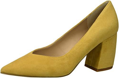 STEVEN by Steve Madden Women's Pamina Pump, Yellow Suede, 7.5 M US (Steven Suede Heels)