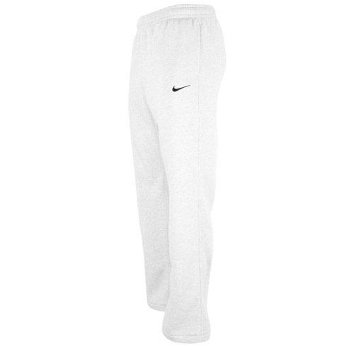 Nike Club Swoosh Men's Fleece Sweatpants Pants Classic Fit, XX-Large - white/black ()