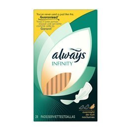 Always Infinity Overnight Protection Pads with Wings - 28/Pack, 6 ea by PROCTER & GAMBLE CONSUMER