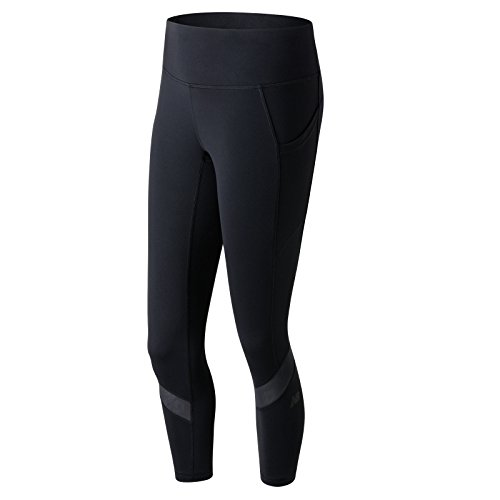 New Balance Women's Premium Performance Fashion Crop Pants, Black, X-Small by New Balance (Image #1)