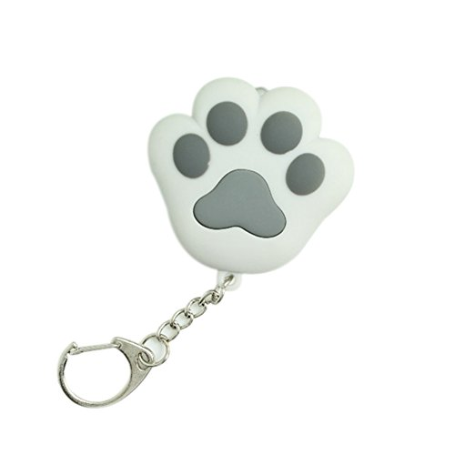 LED Light Cat Paw Keychain With Sound Lover Gift Child Toy Cat Toy Key Ring Key Flashlight Key Chain Flashlights (Gray)