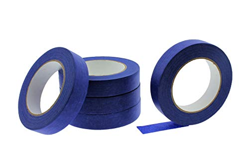 n x 60 yd USA PRO Grade Professional Blue Painters Tape Masking Trim Edge Quick Clean Release Easy Removal NO RESIDUE (24MM x 55M .94 inch) ()