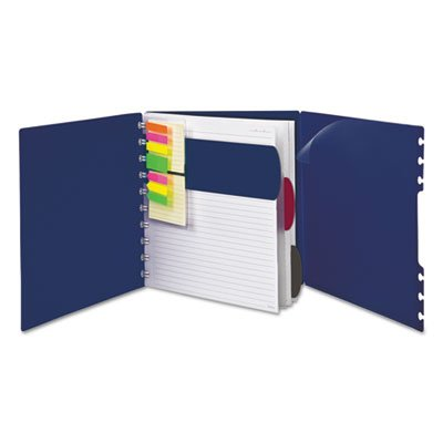 Versa Crossover Notebook, Wide-Rule, 8 1/2 x 11, Navy, 60 Sheets/Pad, 2/Pack, Sold as 1 Each