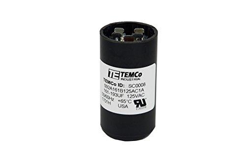 TEMCo Motor Start Capacitor SC0008-161-193 mfd 110-125 V VAC Volt uf Round HVAC AC Electric
