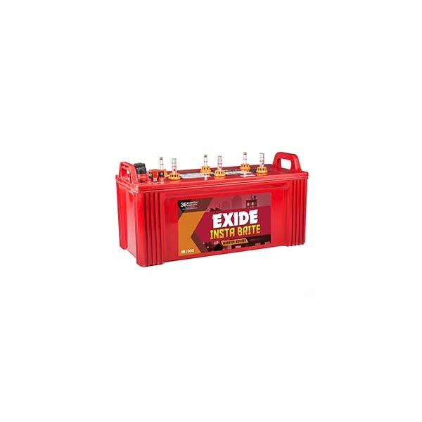 EXIDE INDUSTRIES Insta Brite 150Ah Inverter Ups Battery 36 Months (18 F+18 P) - Pack of 2 2021 June * Unique features and superior technology: Advanced Hybrid Technology that is best suited to withstand high temperatures as well as thick plate construction with special paste formulation. Special hybrid alloy system leading to low water loss and dual plate separation(PE+GM) that reduces the possibility of premature failure. * Easy maintenance: Float/float guide to indicate electrolyte level. * Easy handling/spill-proof: Moulded handles to ensure easy handling. Top vented lid with anti-splash guards fitted with coin flush vent plugs.