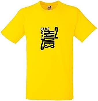 Un Juego de 2 mitades diseño negro camiseta de fútbol amarillo de ...