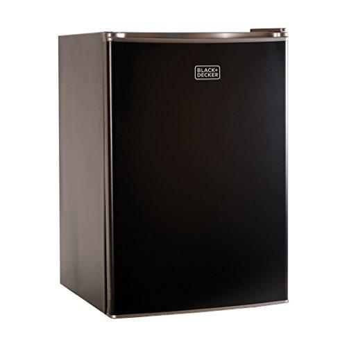 BLACK+DECKER BCRK25B Compact Refrigerator Energy Star Single Door Mini Fridge with Freezer, 2.5 Cubic Feet, Black