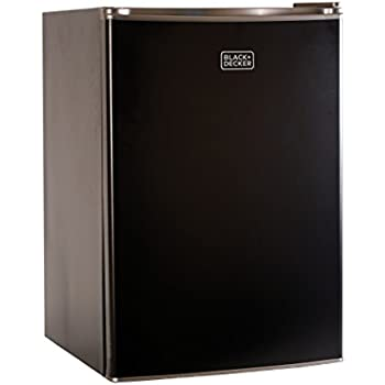 BLACK+DECKER BCRK25B Compact Refrigerator Energy Star Single Door Mini Fridge with Freezer, 2.5 Cubic Ft., Black