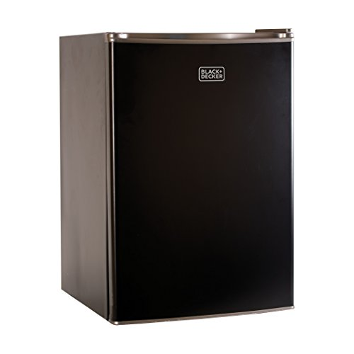 BLACK+DECKER BCRK25B Compact Refrigerator Energy Star Single Door Mini Fridge with Freezer, 2.5 Cubic Ft., Black (Refrigerator Compact Black)