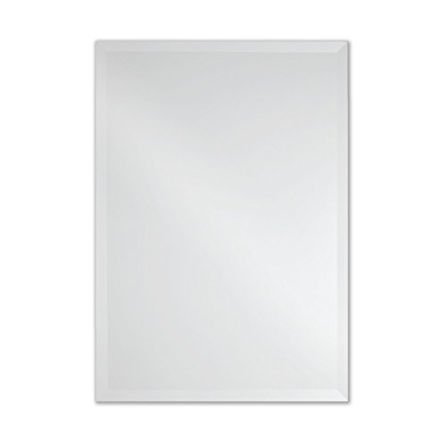 Frameless Rectangle Wall Mirror | Bathroom, Vanity, Bedroom Rectangular Mirror | 20-inch x 28-inch (Small) ()