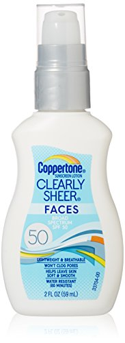 Coppertone ClearlySheer Faces Sunscreen Lotion