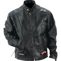 Leather Motorcycle Jacket- 3X