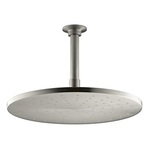 KOHLER K-13689-BN 10-Inch Contemporary Round Rain Showerhead, Vibrant Brushed Nickel