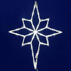 [Vickerman 35 Lights LED Star of Bethlehem Window Decor, White] (Lighted Bethlehem Star)