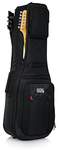 (Gator Cases Pro-Go Ultimate Double Guitar Gig Bag; Holds (2) Electric Guitars (G-PG ELEX 2X))
