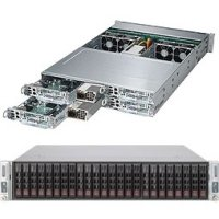 Supermicro SYS-2028TP-HTR SuperServer Four Node Dual LGA2011 2000W 2U Rackmount Server Barebone System44; Black