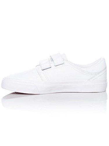 Scarpe Donna Dc Trase V Se Bianco-Bianco-Grigio Rosso (Eu 39 / Us 8 , Bianco)