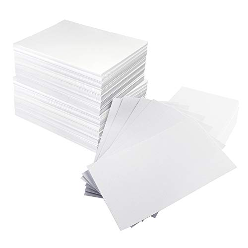 (MyLifeUNIT Business Card Paper, 500-Count Index Cards Blank Playing Cards Name Cards (White))