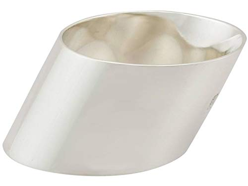 Smart Seller Point Brass Napkin Rings Silver Round for Weddings Dinner Parties or Every Day Use Smart Seller Ppoint
