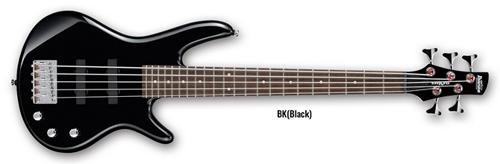 Ibanez 5 String Bass Guitar, Right Handed, Black (GSRM25BK)