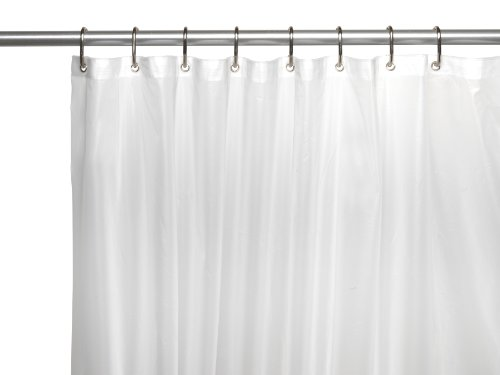 Carnation Home Fashions 10-Gauge PEVA 72 by 84-Inch Shower Curtain Liner, X-Long, Frosted Clear (Window Shower Liner compare prices)