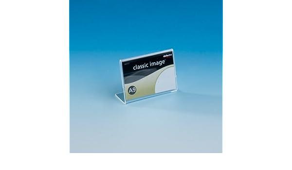 Horizontal transparente CH ex-330q Deflecto/® DIN A9/L//L de expositor poliestireno