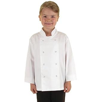 1b60833bc09 Catering aparato superstore - B124 chaqueta de chef para niños, color  blanco: Amazon.es: Industria, empresas y ciencia