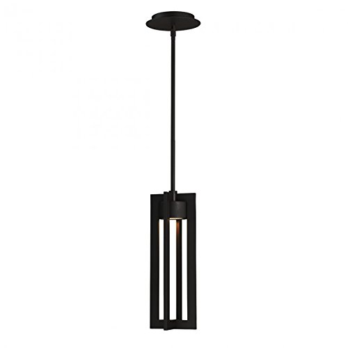 WAC Lighting PD-W48616-BK Chamber Outdoor Pendant LED Light Fixture, Black