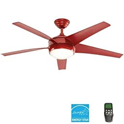 Home Decorators Collection Windward IV 52 in. Red Ceiling Fan with Remote
