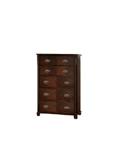 Furniture of America Fairview 7-Drawer Classic Style Chest, Brown Cherry Finish -