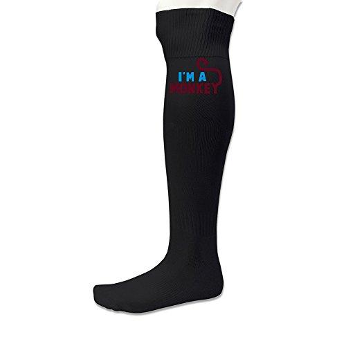 DonSir I'm A Cute Monkey Unisex Long Stockings Sports Over-the Calf Socks Black