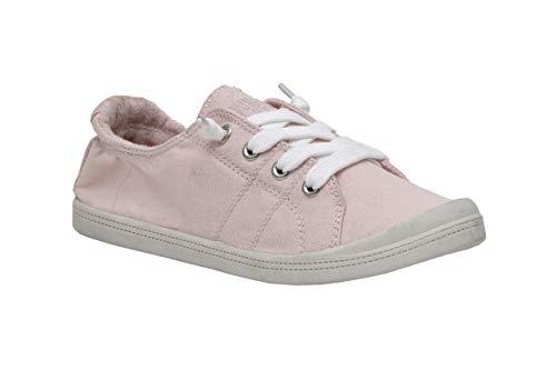 Dunes Sport Women's Reesa Canvas Sneaker, Pale Pink, 9.5