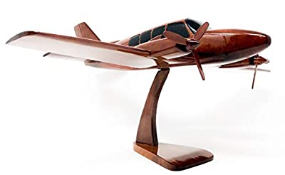 Baron Replica Airplane Model Hand Crafted with Real Mahogany Wood