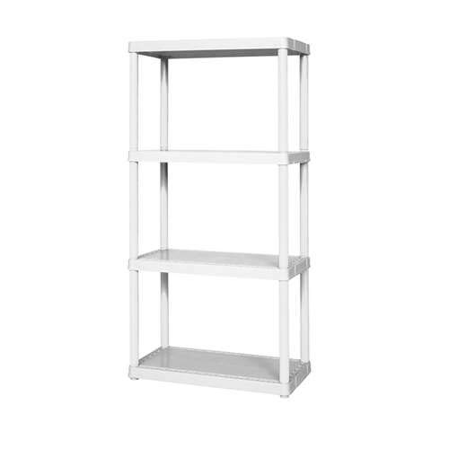 Solid Plastic Shelf - SHELF PLASTIC 4 SOLID WH by GRACIOUS LIVING MfrPartNo 91064-1C-90