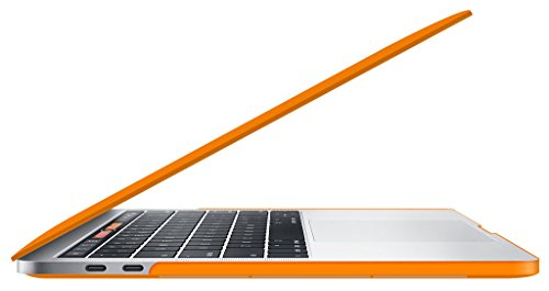 UESWILL MacBook Pro 13 inch Case 2018 & 2017 & 2016 Release, A1989/A1706/A1708, Matte Hard Case Cover for Newest MacBook Pro 13 inch with/Without Touch Bar Touch ID, Orange by UESWILL (Image #2)