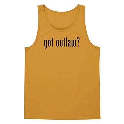 The Town Butler got Outlaw? - A Soft & Comfortable Men's Tank Top, Gold, -