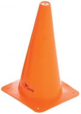 12 Inch set Of 4 Precision Traffic Vinyl Cones Orange