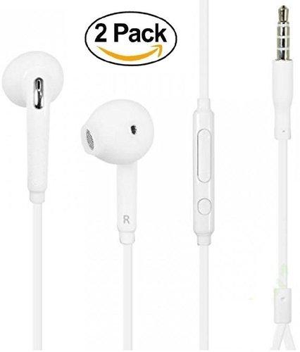 2-PACK Premium Earphones/Earbuds/Headphones with Stereo Mic&