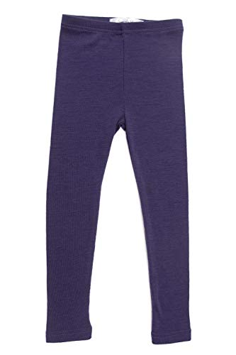Merino Wool Kids Purple Thermal Bottoms. Underwear for Toddler Size ()