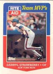 1988 Topps Rite-Aid Team MVP's #7 Darryl Strawberry Near Mint/Mint